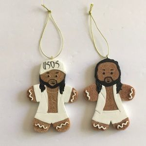 WWE The USOS 2018 Gingerbread Ornaments.